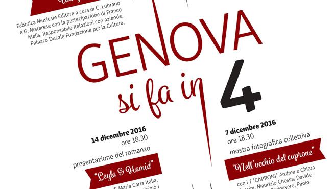 Cultura e creatività a 'Genova si fa in 4'
